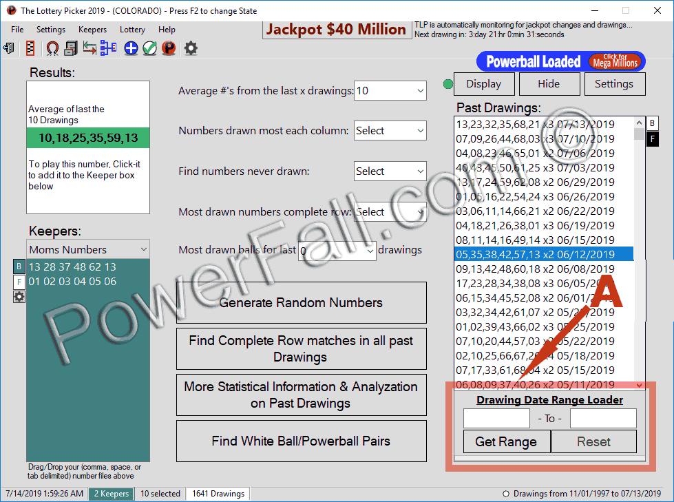 lottery database