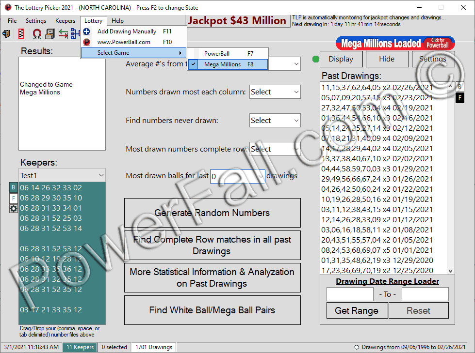 Mega Millions Lottery Software program