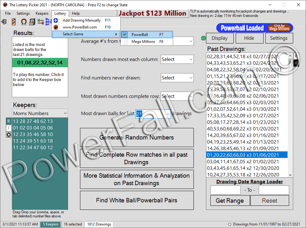 Powerball Lottery Software program
