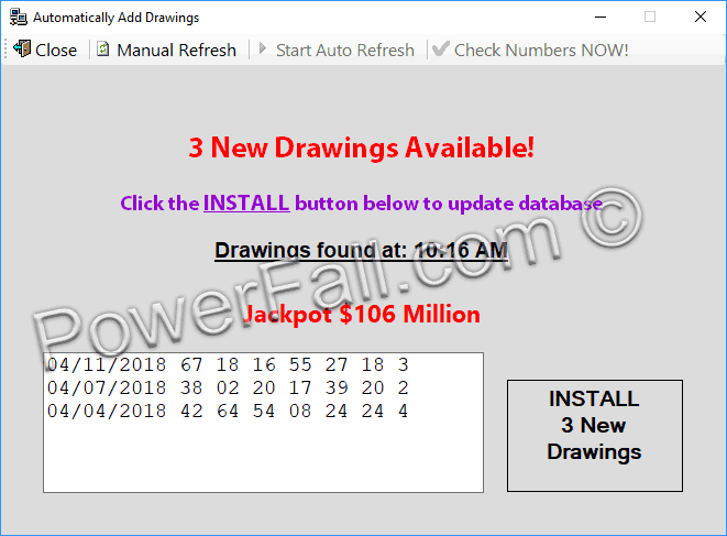 Photo of The Lottery Picker automatically downloading lottery numbers